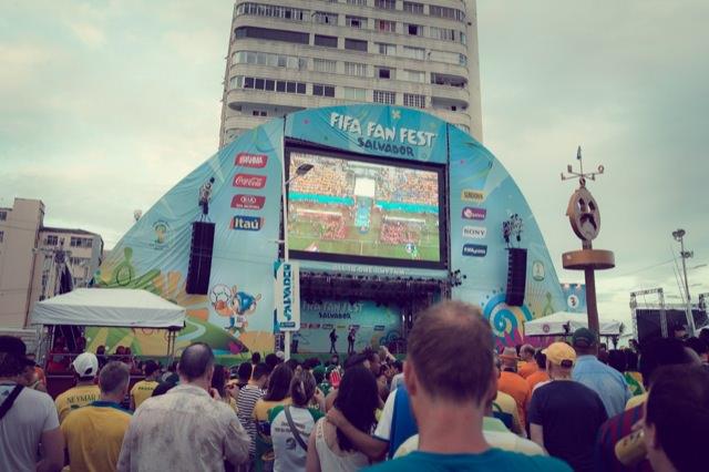 ブラジルワールドカップ開幕戦 FAN FEST @サルバドール