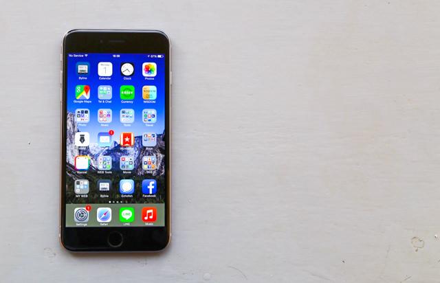 愛用しているiPhone 6 Plus SIMフリー