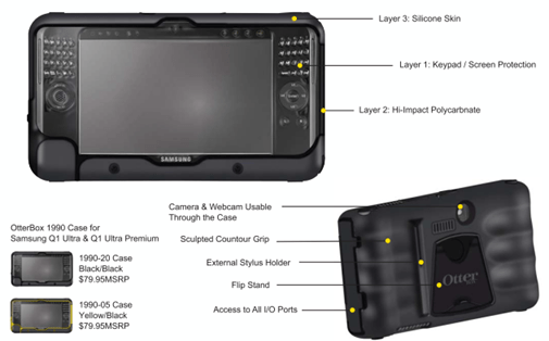 Otterbox 1990 Case for Samsung Q1 Ultra Premium
