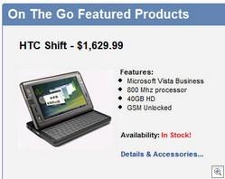 HTC Shift On Sale
