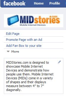 midstories facebook fan page
