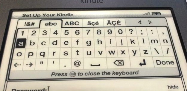 Kindle On-screen Keyboard