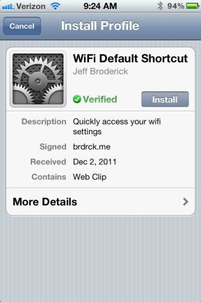 Install iPhone Setting Shortcuts no Jailbreak
