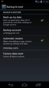 Hard Reset Galaxy Nexus