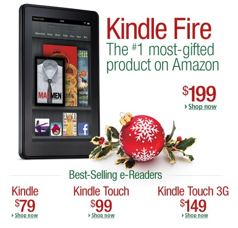 Kindle on Amazon Home Page