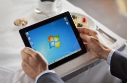 OnLive Desktop running Windows 7 on iPad