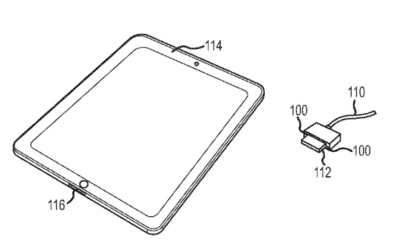 Patent for MagSafe Power and Sync connector for iPad