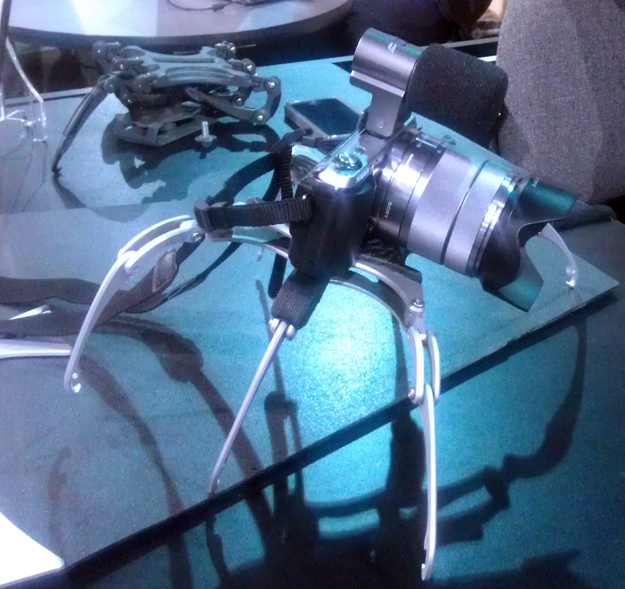 Life Phorm holding a Sony Alpha NEX-C3