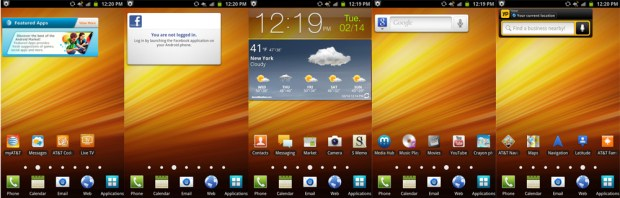 Galaxy Note Home Screens