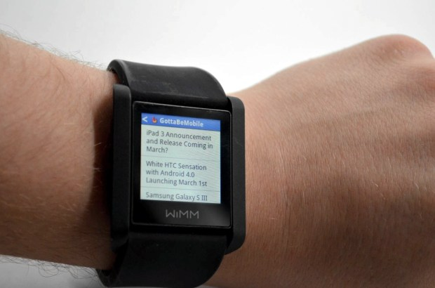 Smart Watch WIMM - News Reader