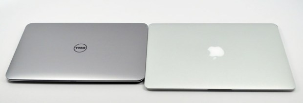 Dell XPS 13 Ultrabook vs. MacBook Air side by side