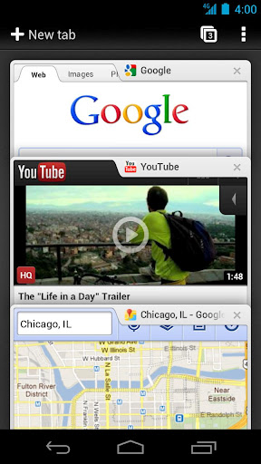 Google Chome for Android Beta