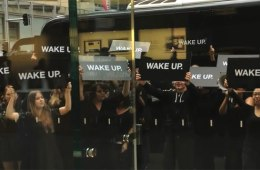 Samsung Wake Up Protestors