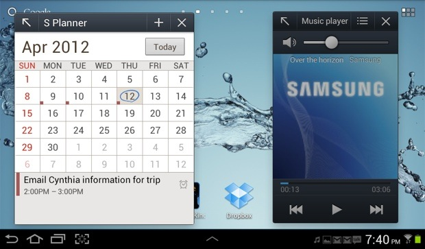 Galaxy Tab 2 TouchWiz