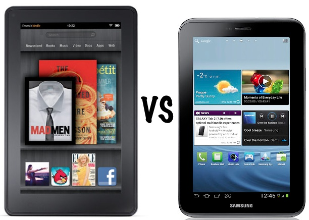 Kindle Fire vs Galaxy Tab 2 7.0