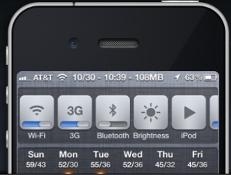 quick settings iPhone iOS 6