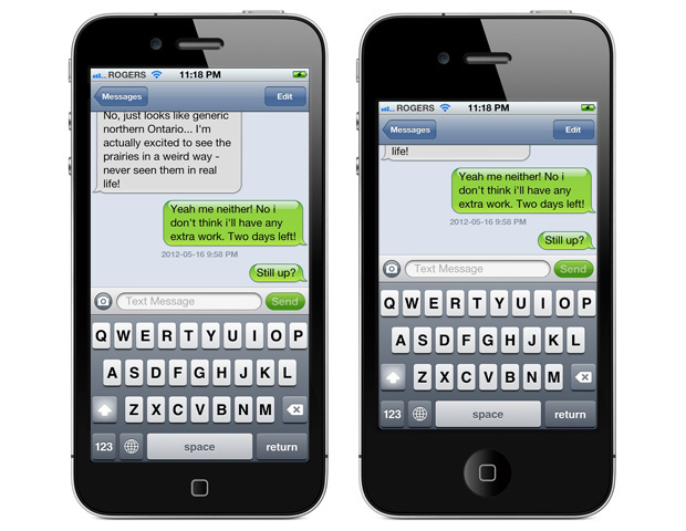 4-inch iPhone 5 Messages App
