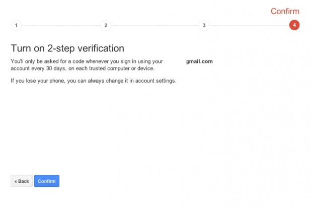 Google 2-step Authentification 5