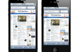 Safari on the taller 4 inch iPhone compared to today's iPhone