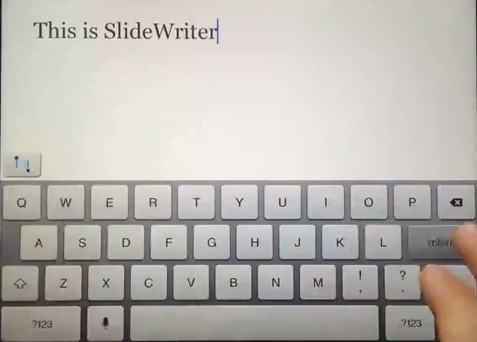 SlideWriter iPad text editor with better test selection