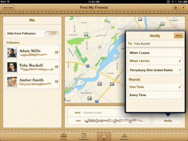 Find my Friends updated with notifications