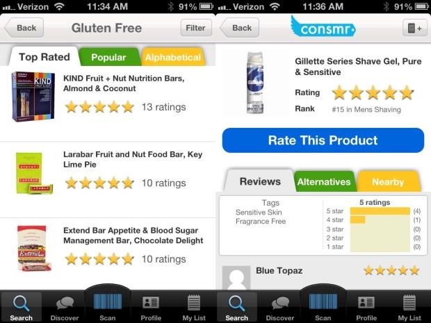 consmr gluten free