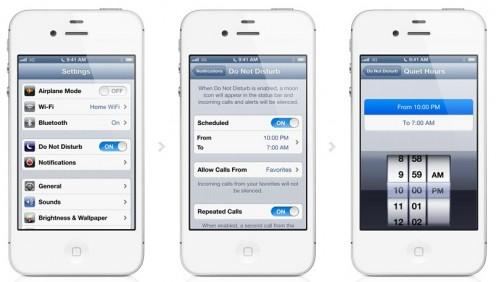 iOS 6 Do Not Disturb