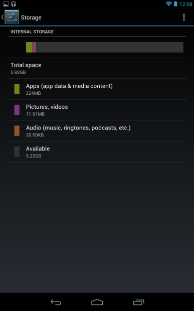 $199 Google Nexus 7 Only Has 5.92GB of Storage Space