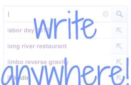 Google Search Handwriting