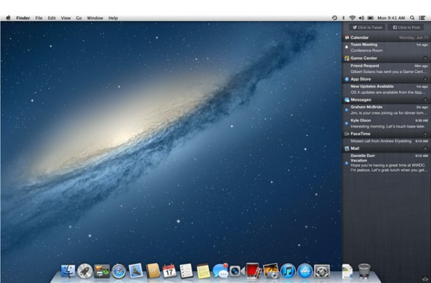 Mountain Lion Notification Center