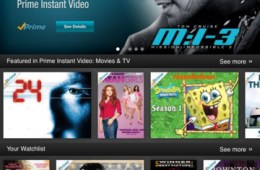 Amazon Instant Video iPad app