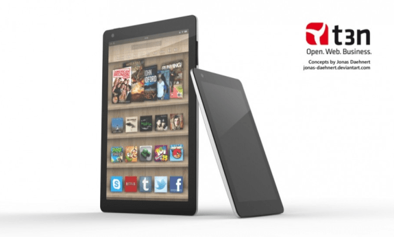 Kindle Fire 2 render