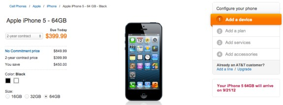 AT&T iPhone 5 pre-orders