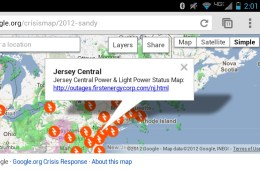 Sandy Crisis Map Power Outages