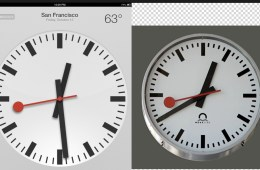 iPad Swiss Clock