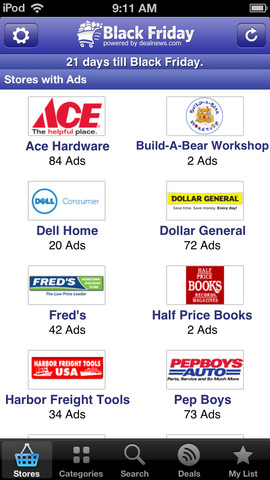 Black Friday app ads and deals