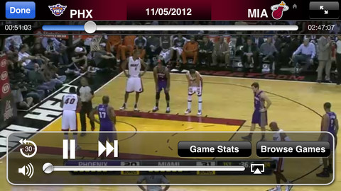 Live NBA on iPHone