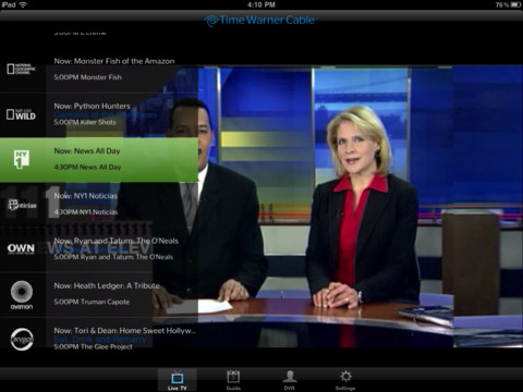 Live TV on Ipad