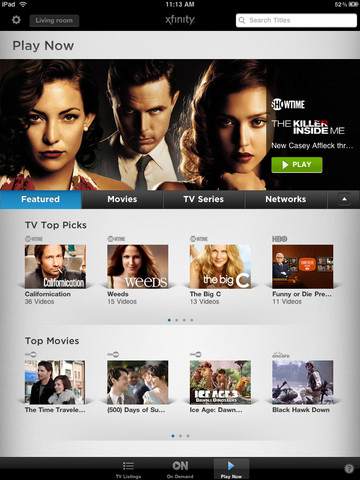 Xfinity Comcast TV for iPad