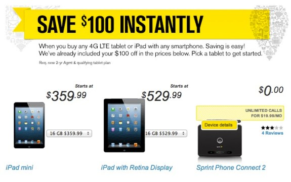 iPad 4 deal Sprint