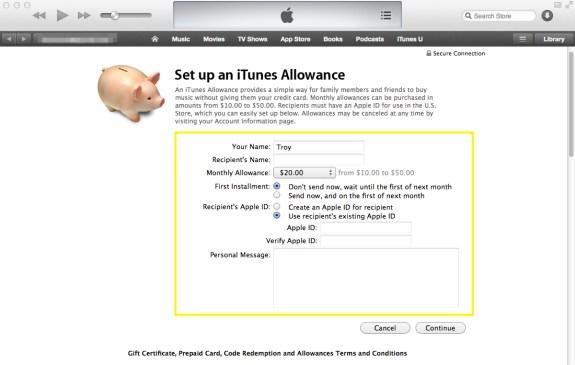 Allowance Details