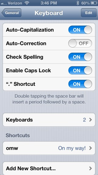 Disabled Auto-Correct