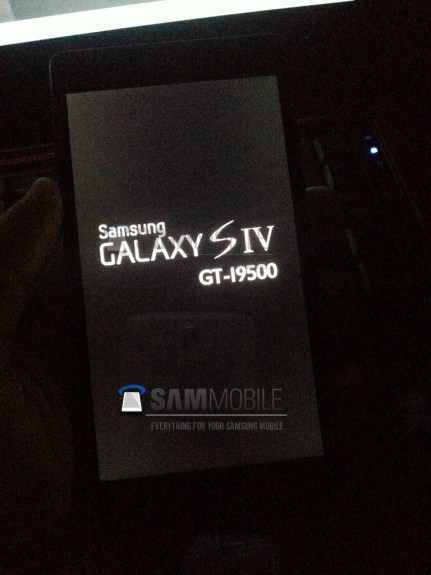 A purported photo of the Samsung Galaxy S4.