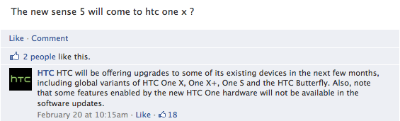 HTC Sense 5.0 will be coming to an assortment of HTC phones it seems.