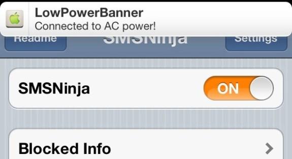 lowpowerbanner cydia app