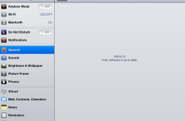 iOS 6.1.2 was released for the iPad earlier this week.
