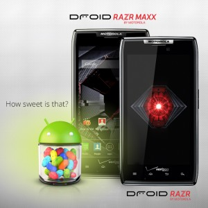 Jelly Bean is officially rolling out to the Droid RAZR and Droid RAZR MAXX.