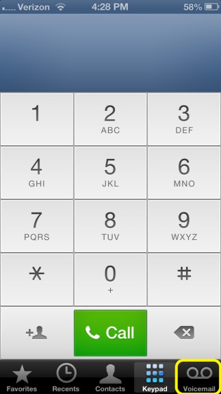 Tap Voicemail