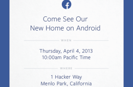 Facebook will be showing off its 'New Home on Android' on April 4th.