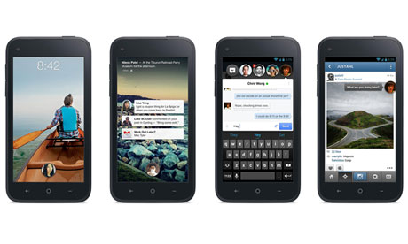Facebook Home smartphone screens